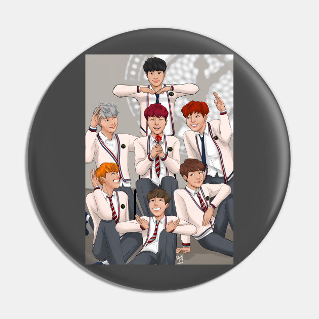 Just One Day Bts Pin Teepublic