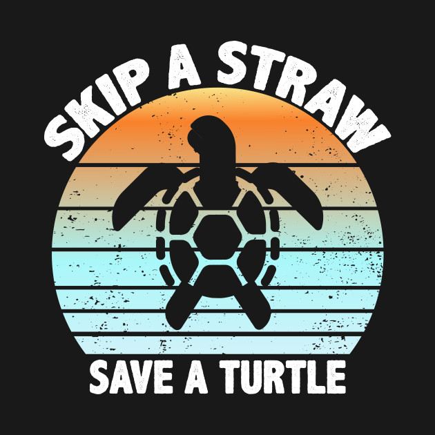 Skip A Straw Save A Turtle Tank Tops Sleeveless Shirt Fit Men Cotton