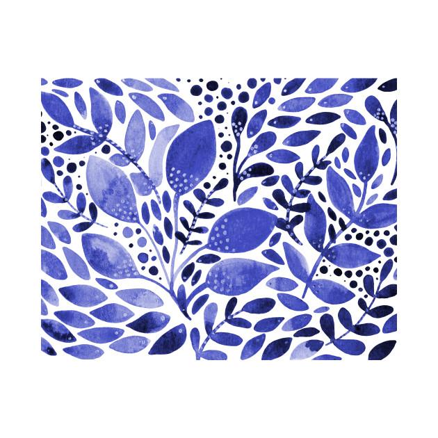 Blue watercolor nature
