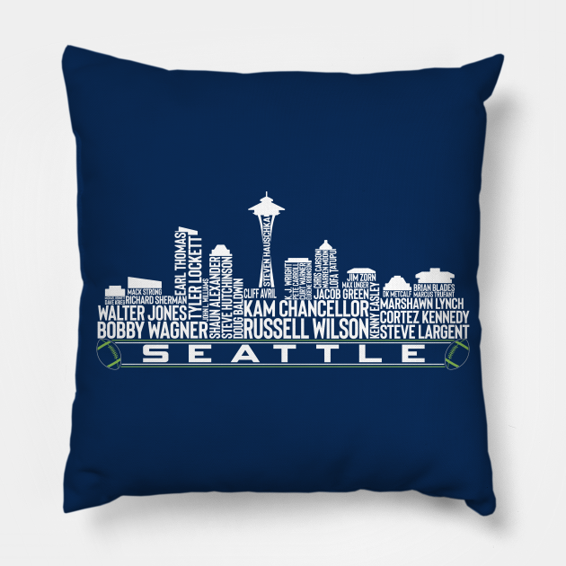 The legends Seattle city skyline of the Seattle football team