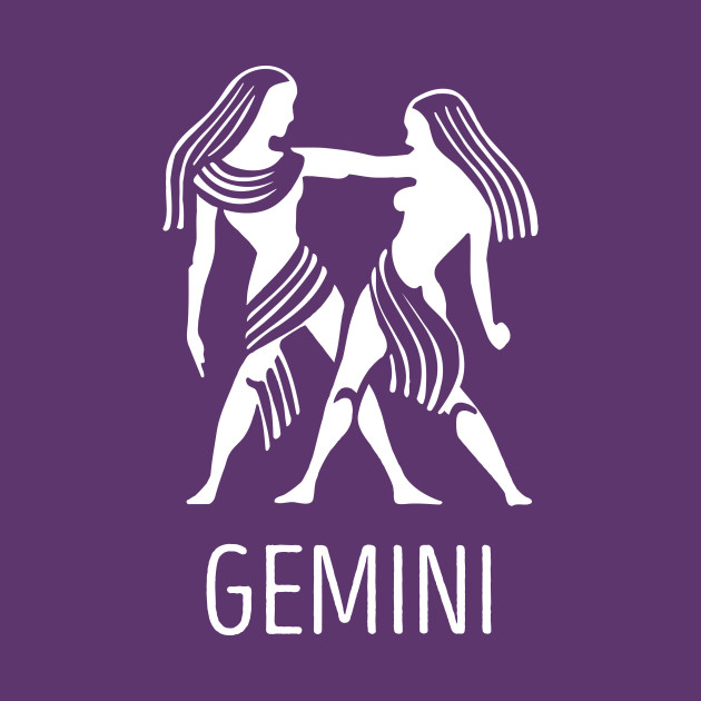 Astrological Zodiac Tee Shirts - Gemini the Twins