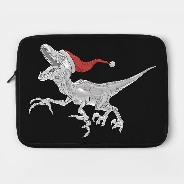 Black and White Christmas Velociraptor