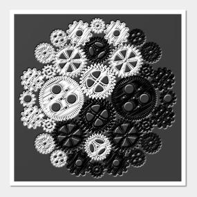Gears Yin/Yang Wall Art