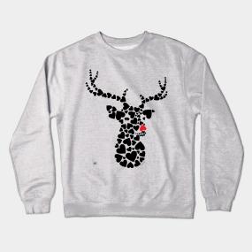 d76edf785242d Oh Deer Crewneck Sweatshirts | TeePublic