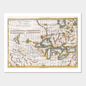 Old great lakes map posters and art prints teepublic vintage map of the great lakes canada 1780 posters and art gumiabroncs Images