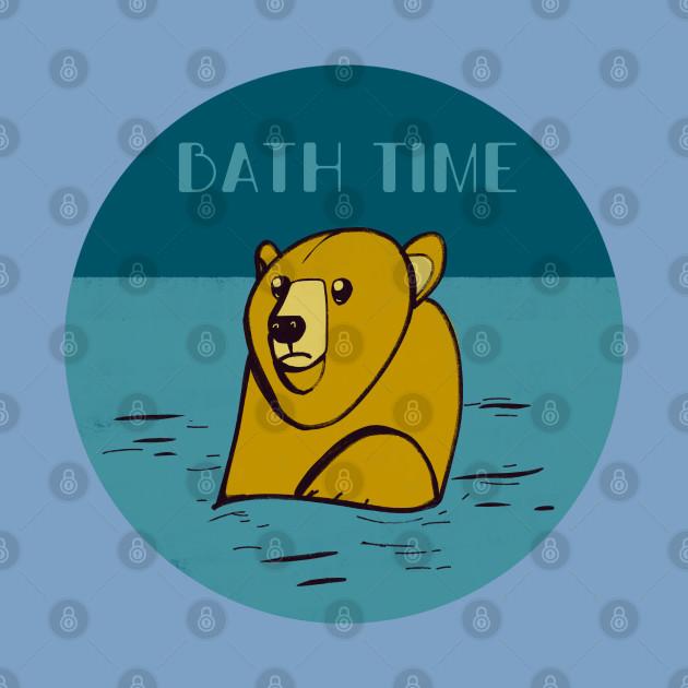 Bear bath time