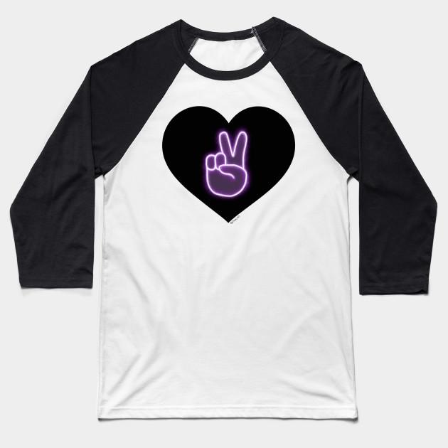 Dolan Twins Glow Neon Peace Emoji Merch Design Heart