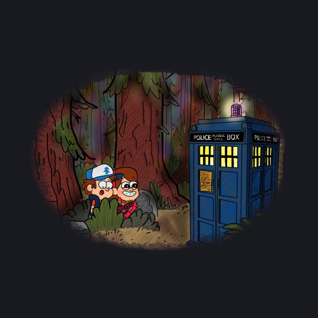 A TARDIS at Gravity Falls