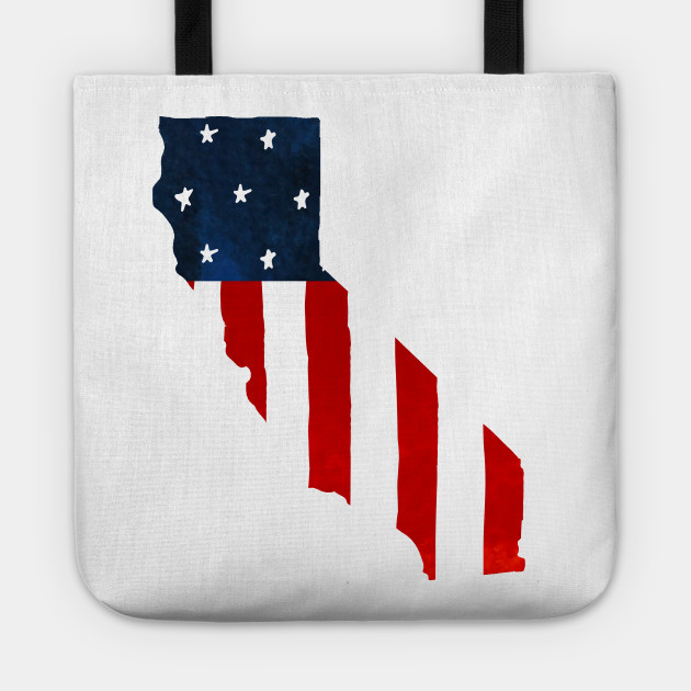 Patriotic Red White and Blue Flag Tote bag Made In USA