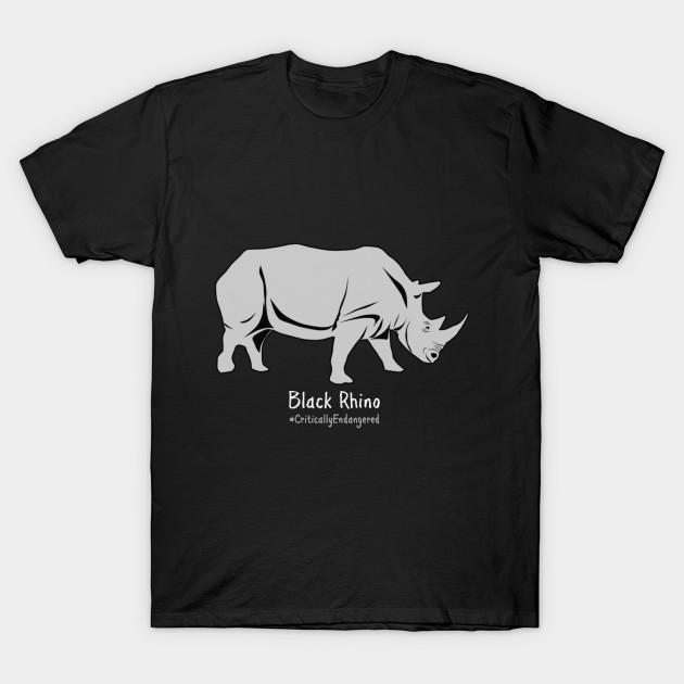 4033f5dd7256 Black Rhino - Critically Endangered Animal Awareness Shirts and More T-Shirt