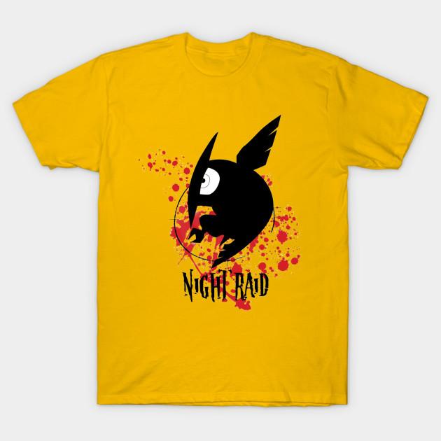 Night raid t shirt
