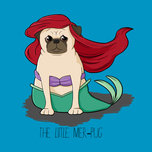 The Little Mer-Pug