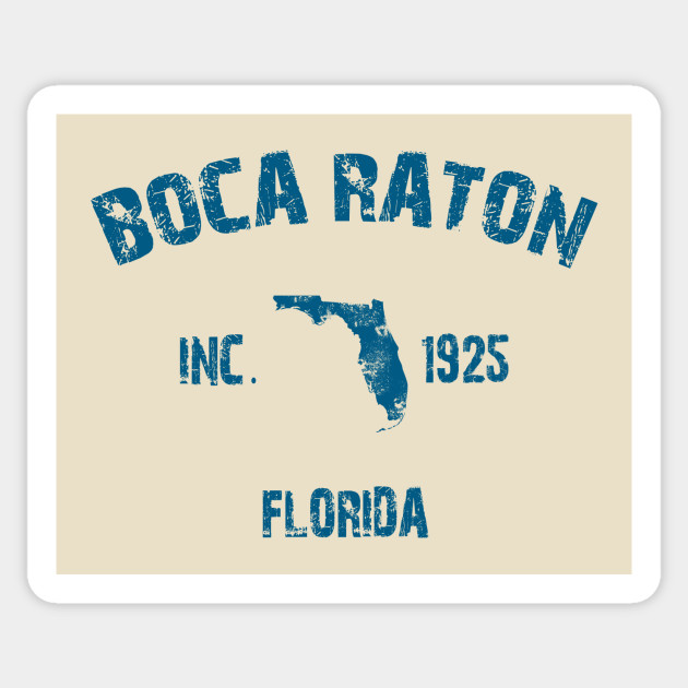 Boca Raton Florida Map Sticker Teepublic