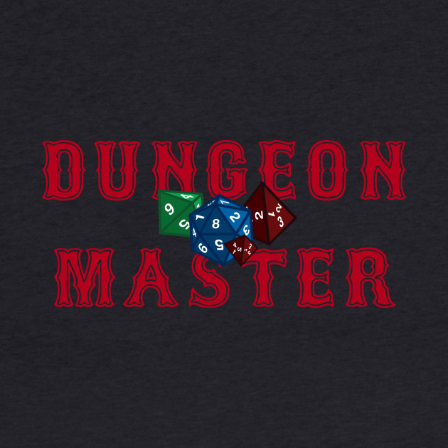 Dungeon Master Title With Dice