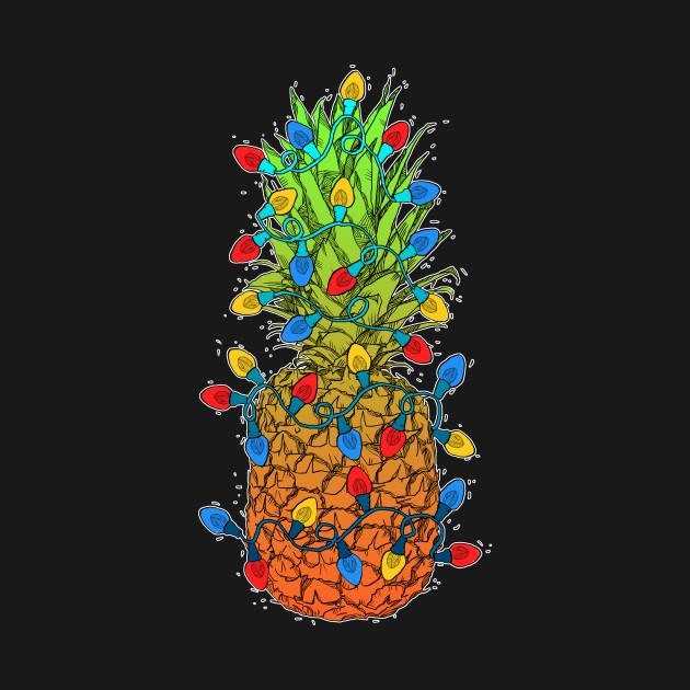 Christmas Pineapple.Pineapple Christmas