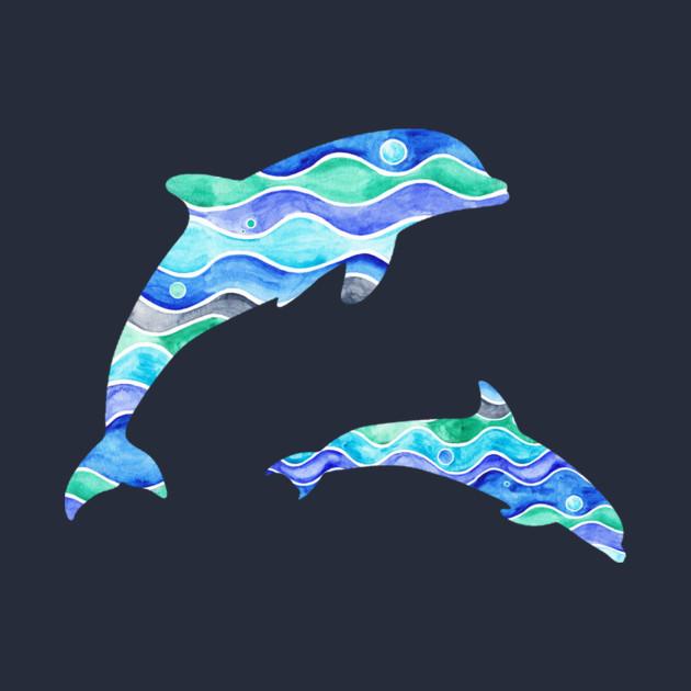 Ocean Dolphin Pattern