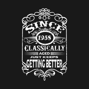 Original Since 1958 Handwriting Geburtstag Birthday Party Männer Premium T-Shirt