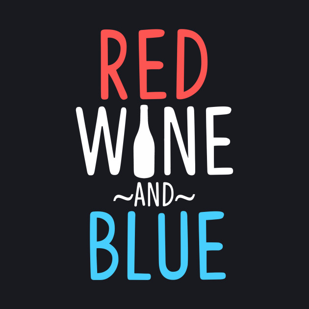 red wine and blue