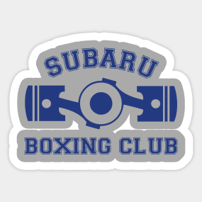 Subaru Boxing Club Sticker