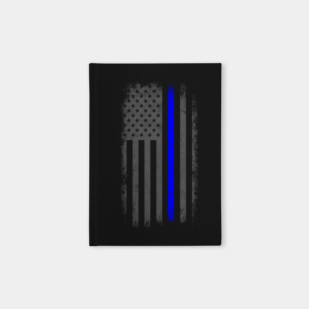 vertical thin blue line american flag thin blue line notebook