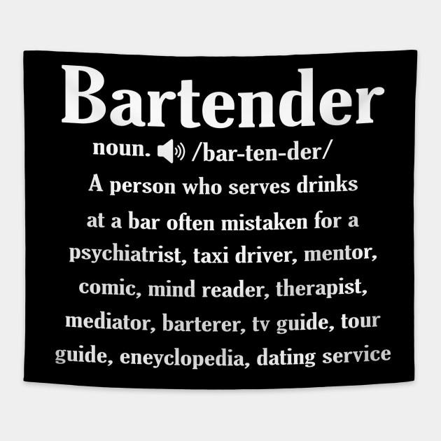 ab1fdada Noun Bartender Definition Shirt - Bartender - Tapestry | TeePublic