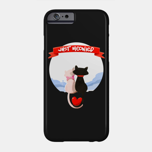 eb4211467 Just Married Cat Lover Funny Relationship Couples T-shirt Phone Case