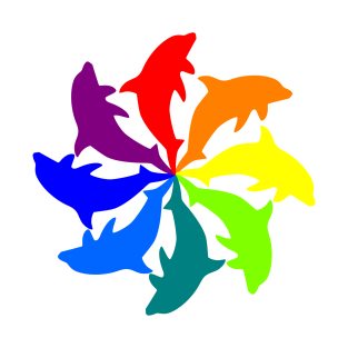 Dolphin Color Wheel t-shirts