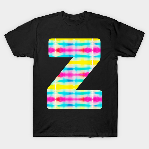 Tie Dye Alphabet Z (Uppercase letter z), Letter Z