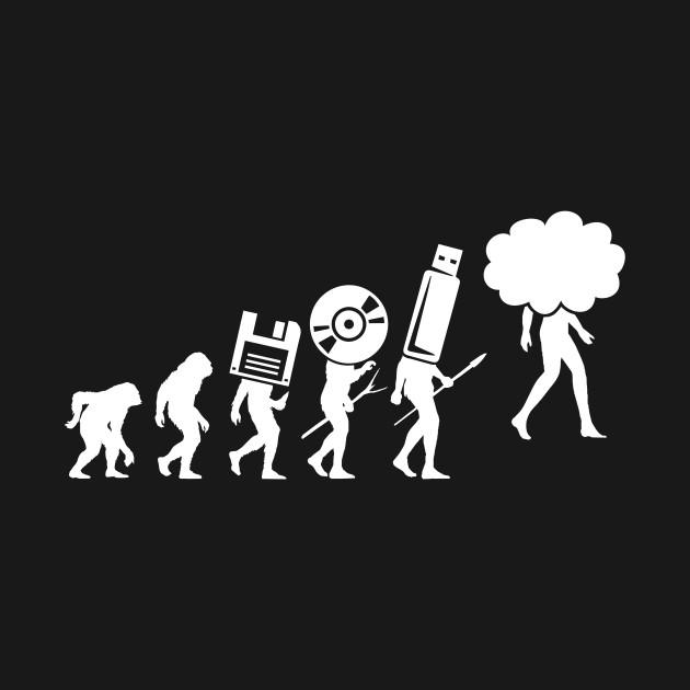 Evolution Of Man Data Storage Computer Science T Shirt Computer
