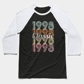 1998 Classic 21 Years Old Birthday Baseball T Shirt