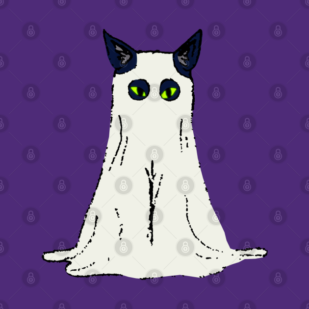 Spooky Kitty Cat - Cat Ghost Costume