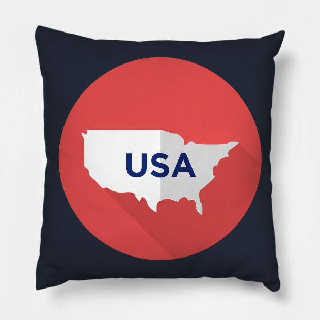 Neat 4th Of July Party Usa Map 4th Of July Usa Map Pillow