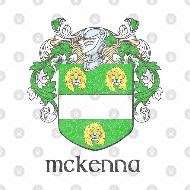 McKenna / Faded Style Family Crest Design