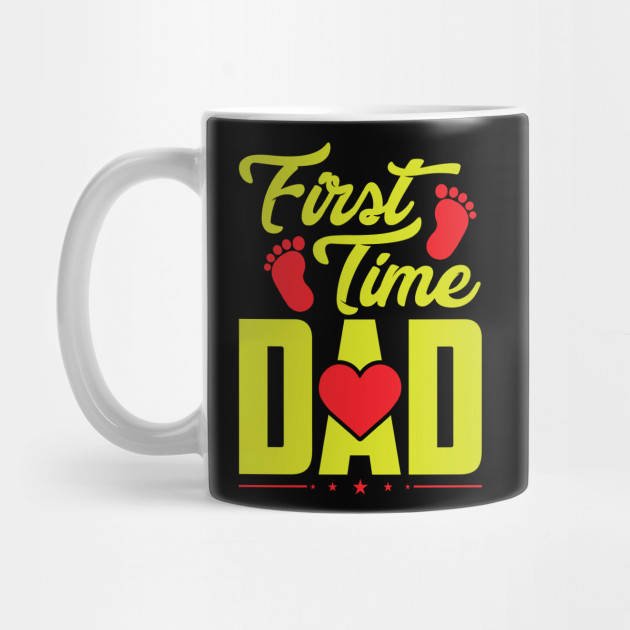 Daddy Father Papa Father's Day First Time Dad Baby Footstep Gift Mug
