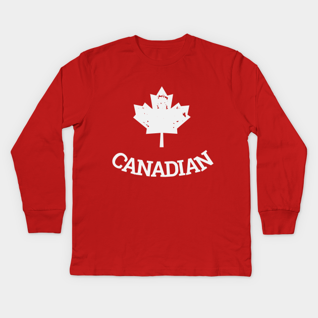 Proudly canadian with the maple leaf