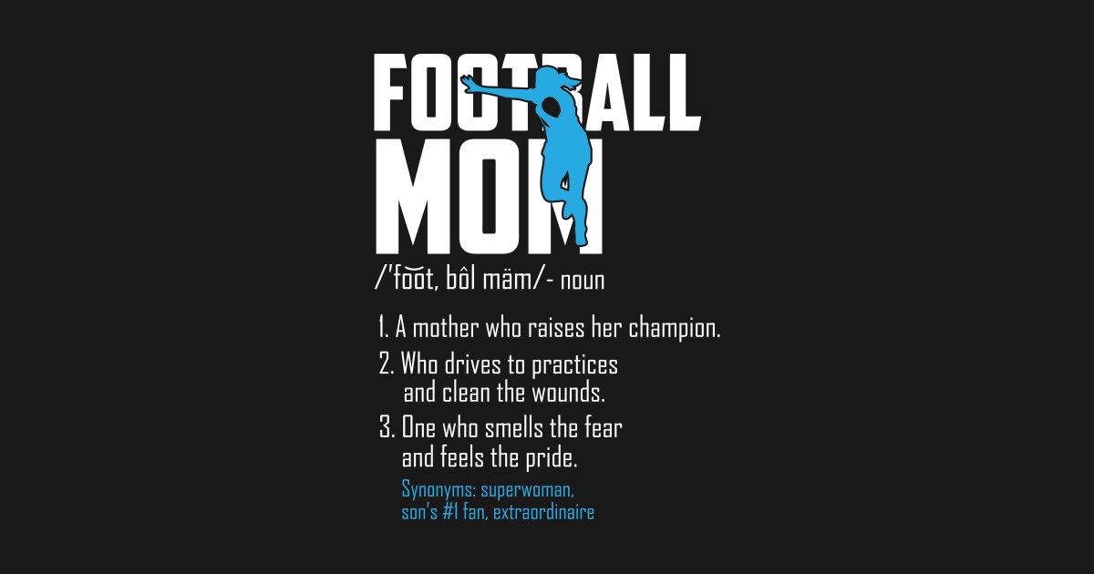 Football Mom T-Shirt American Football Player gifts by amatees
