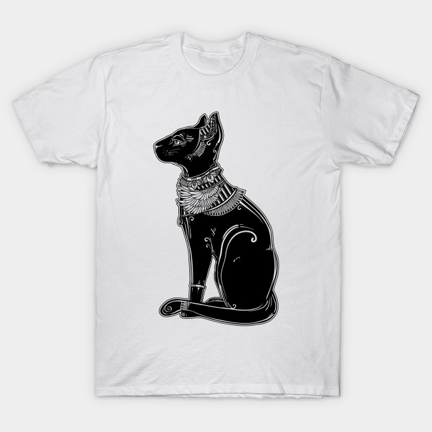 Bastet The Cat Goddess Ancient Egypt T Shirt Teepublic