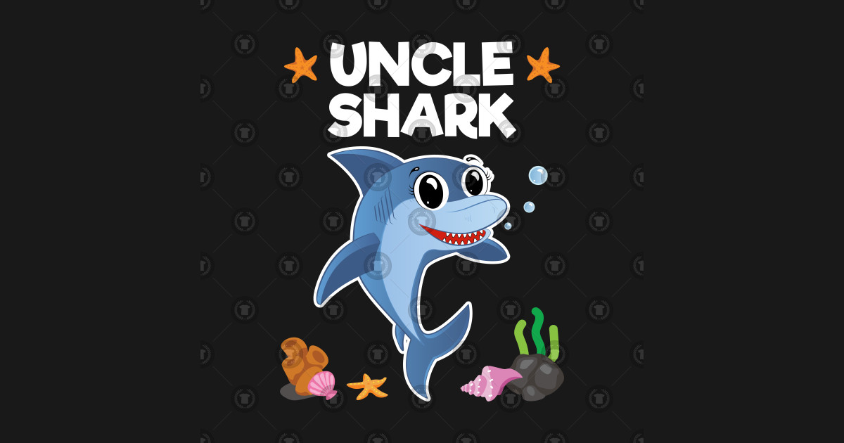Uncle Shark Birthday Gift T Shirt