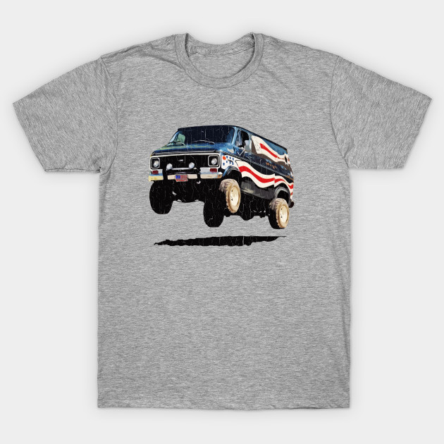 Bad-Ass '70s Van (vintage distressed look) - Funny Shirt - T-Shirt ...