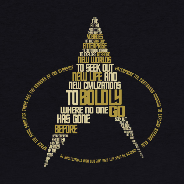 Star Trek Next Gen. Symbol Typography
