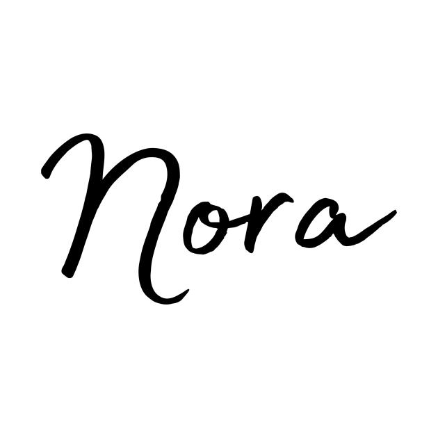 Nora Name Calligraphy - Nora - Kids Long Sleeve T-Shirt ...