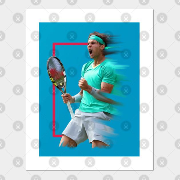 Rafael Nadal Artwork Rafael Nadal Poster Und Kunst Teepublic De