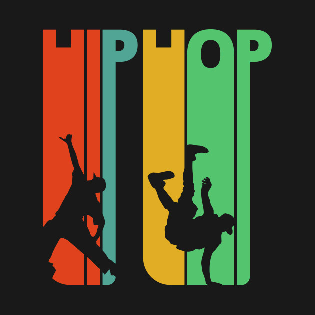 Hiphop dancing silhouette.