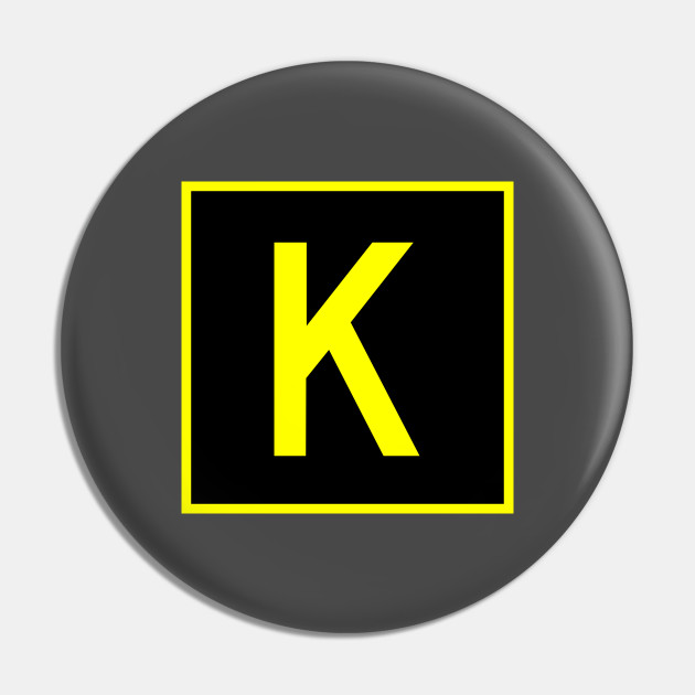 K Kilo Faa Taxiway Sign Phonetic Alphabet Taxiway Sign Pin Teepublic