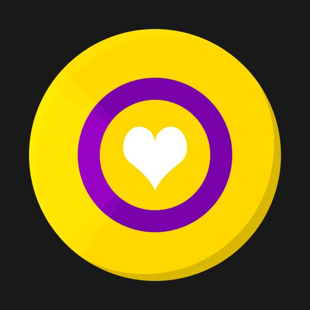 Pride Shield - Intersex Flag