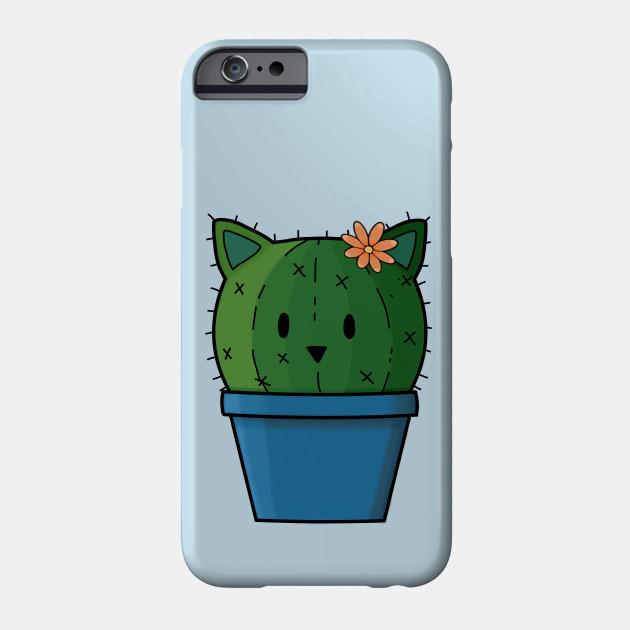 bfb6d40d54 Cute Cattus Cactus in Pot - Cactus Lover - Phone Case | TeePublic