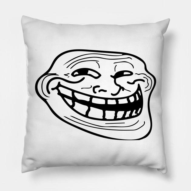 Black Mirror Trollface Pillow