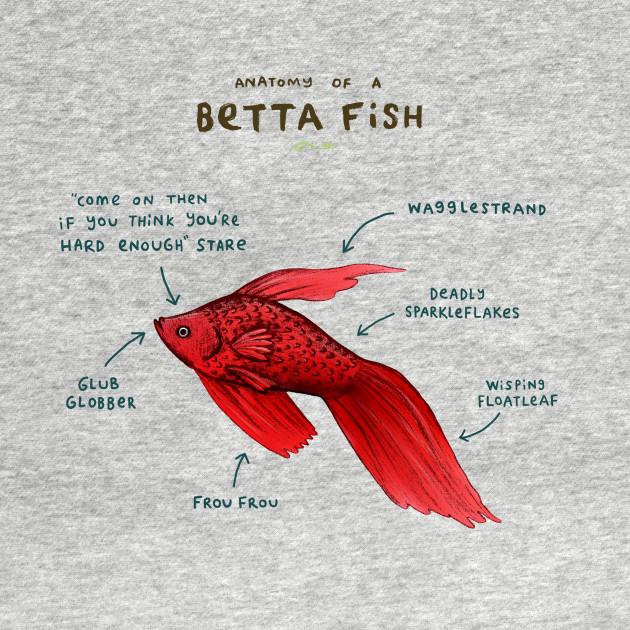 Anatomy of a Betta Fish - Lol - Kids Hoodie | TeePublic
