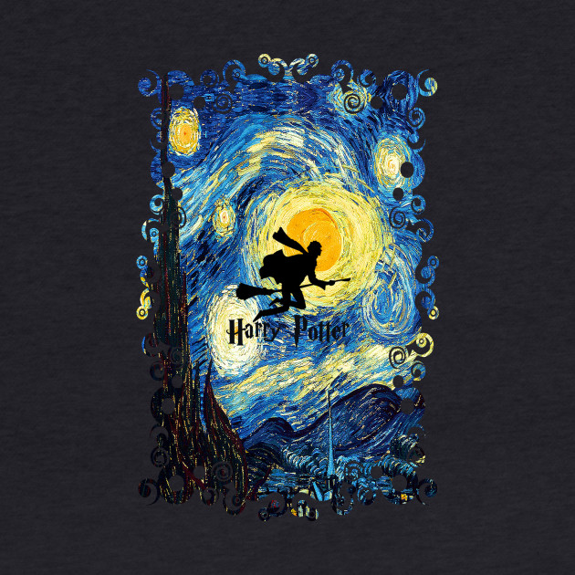 Young wizard starry the night