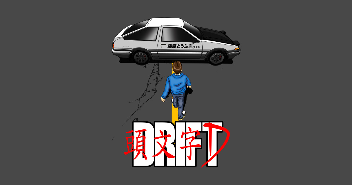 drift initial d t shirt teepublic. Black Bedroom Furniture Sets. Home Design Ideas